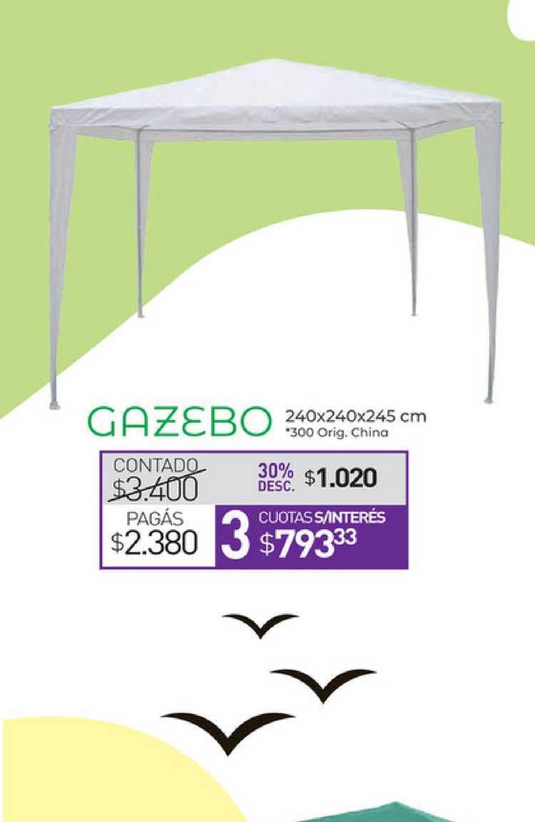 La Anónima Gazebo 240x240x245 Cm