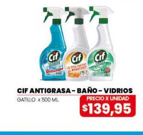 Danisant Cif Antigrasa - Baño - Vidrios Gatillo