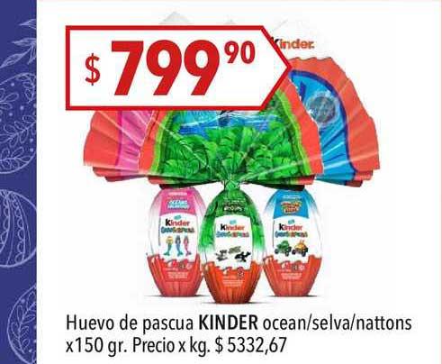 Hergo Huevo De Pascua Kinder Ocean-selva-nattons