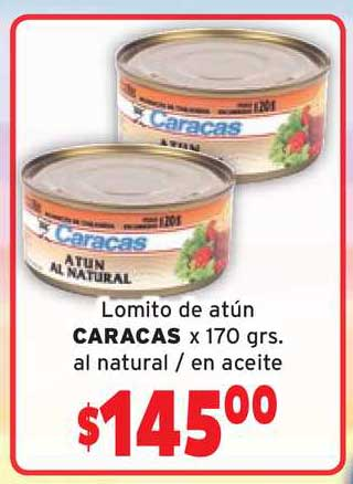 Borbotti Hipermercado Lomito De Atún Caracas X 170 Grs. Al Natural - En Aceite