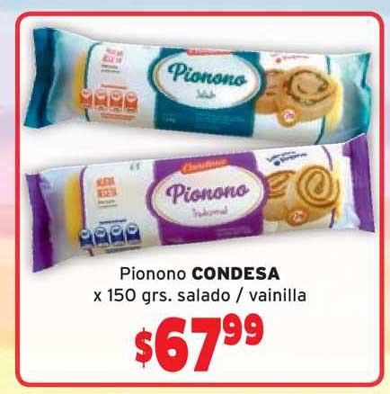Borbotti Hipermercado Pionono Condesa X 150 Grs. Salado - Vainilla