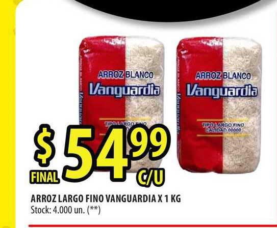Punto Mayorista Arroz Largo Fino Vanguardia X 1 KG