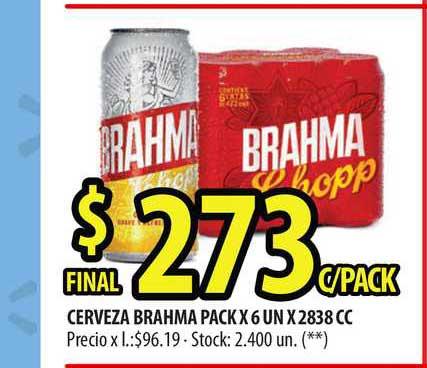 Punto Mayorista Cerveza Brahma Pack X 6 UN X 2838 CC