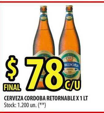 Punto Mayorista Cerveza Cordoba Retornable X 1 LT