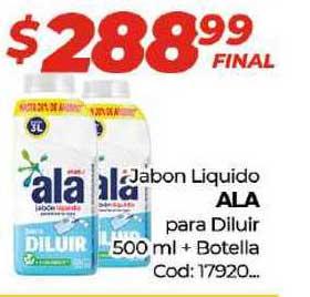 Diarco Jabon Liquido Ala Para Diluir 500 Ml + Botella