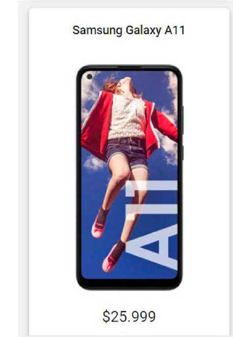 Claro Samsung Galaxy A11