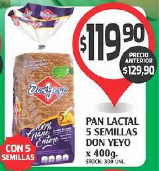 Supermercados Malambo Pan Lactal 5 Semillas Don Yeyo