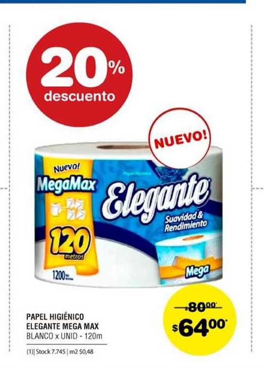 ATOMO Conviene Papel Higiénico Elegant Mega Max 20% Descuento