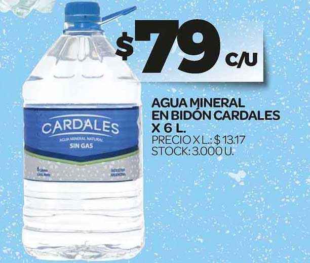 Supermercados DIA Agua Mineral En Bidón Cardales X 6 L.