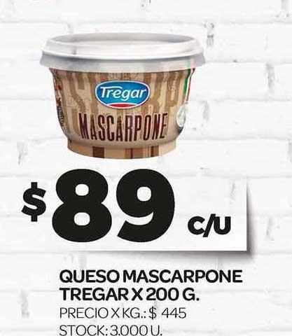 Supermercados DIA Queso Mascarpone Tregar X 200 G.