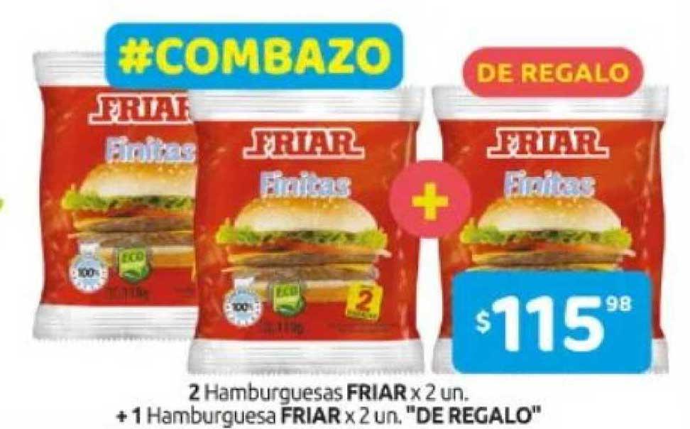 Cordiez 2 Hamburguesas Friar + 1 Hamburguesa Friar De Ragalo