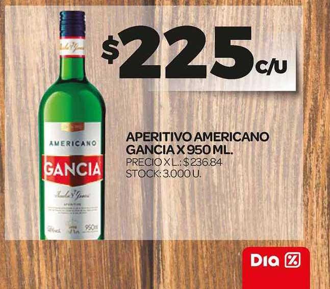 Supermercados DIA Aperitivo Americano Gancia X 950 ML.