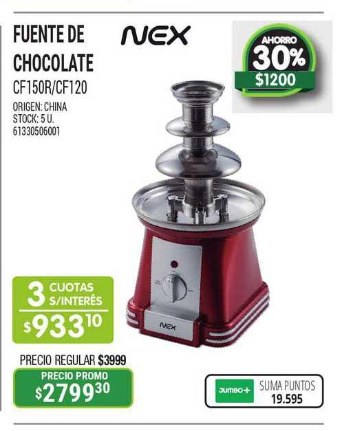 Jumbo Fuente De Chocolate CF150R-CF120