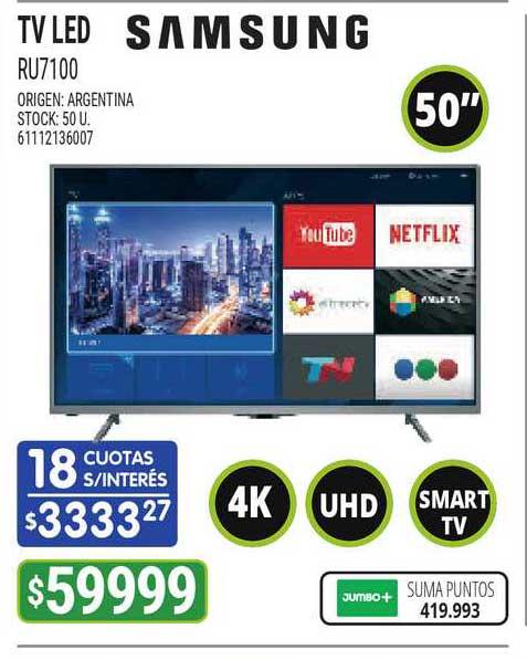 Jumbo TV Led RU7100