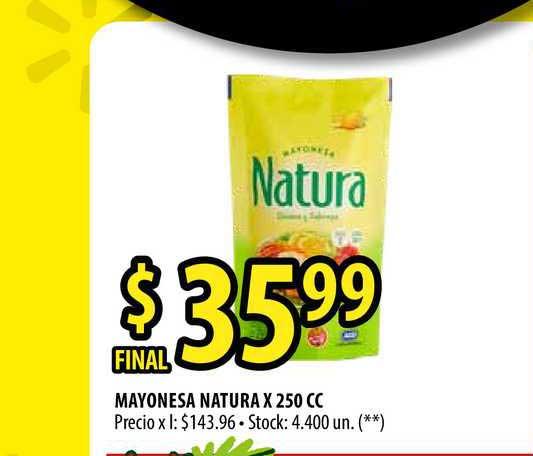 Punto Mayorista Mayonesa Natura X 250 CC