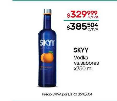 Nini Mayorista Sky Vodka Vs. Sabores X 750 Ml
