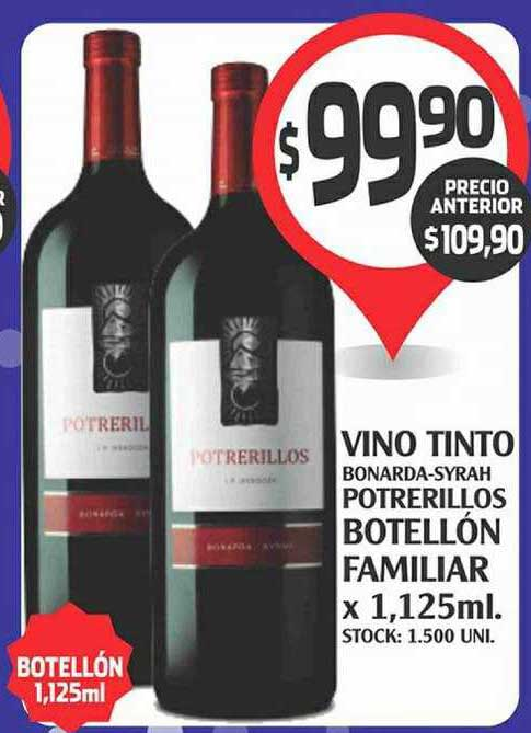 Supermercados Malambo Vino Tinto Bonarda Syrah Potrerillos