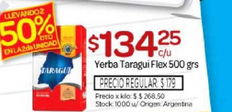 Josimar Yerba Taragui Flex 500 Grs