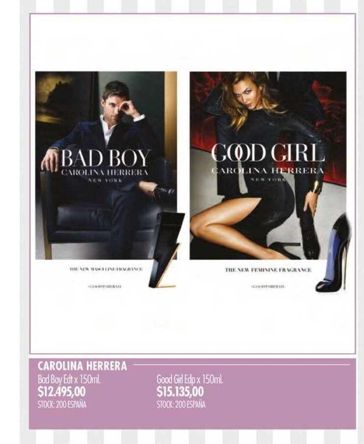 Pigmento Carolina Herrera Bad Boy Edt - Good Girl Edp