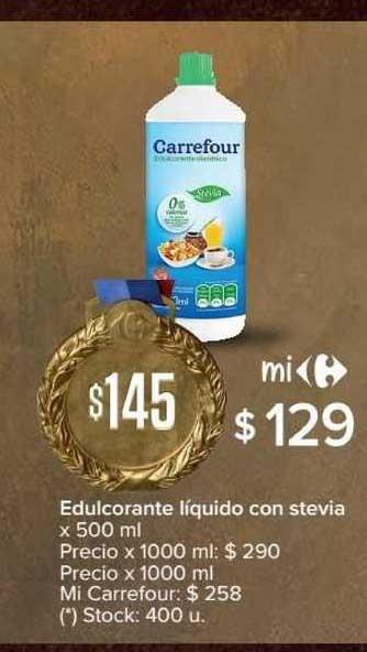 Carrefour Express Edulcorante Líquido Con Stevia