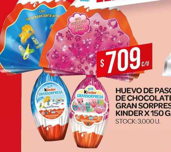 Supermercados DIA Huevo De Pascua De Chocolate Gran Sorpresa Kinder
