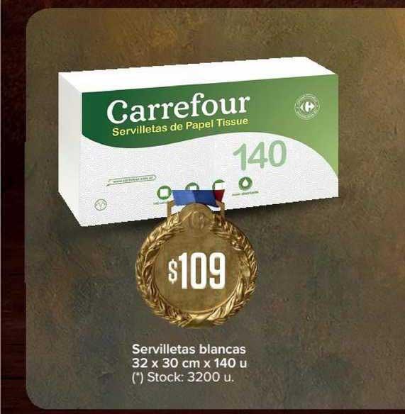 Carrefour Express Servilletas Blancas 32 X 30 Cm X 140 U