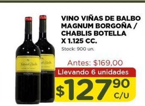 Super Mami Vino Viñas De Balbo Magnum Borgoña - Chablis Botella