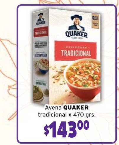 Único Supermercados Avena Quaker Tradicional X 470 Grs.