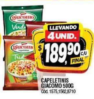 Supermercados Yaguar Capeletinis Giacomo