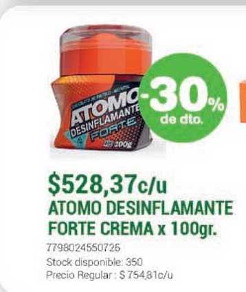La Santé Atomo Desinflamante Forte Crema -30% De Dto