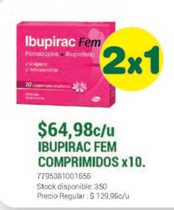 La Santé Ibupirac Fem Comprimidos X 10