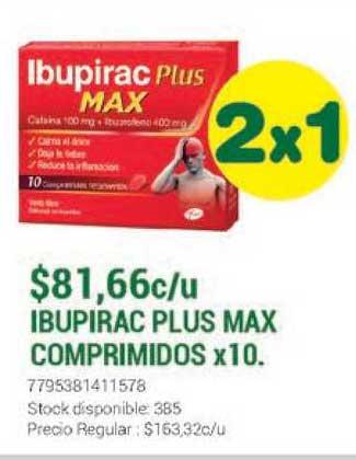 La Santé Ibupirac Plus Max Comprimidos X 10