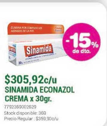 La Santé Sinamida Econazol Crema X 30gr -15% De Dto