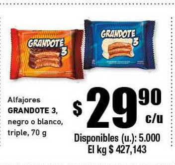 Cooperativa Obrera Aflajores Grandote 3 Negro O Blanco Triple