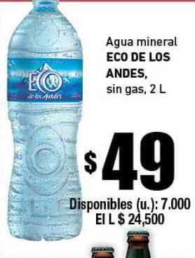 Cooperativa Obrera Agua Mineral Eco De Los Andes Sin Gas