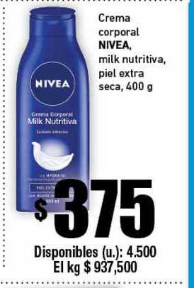 Cooperativa Obrera Creme Corporal Nivea Milk Nutritiva Piel Extra