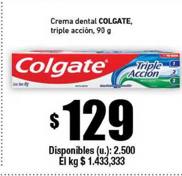 Cooperativa Obrera Creme Dental Colgate Triple Acción