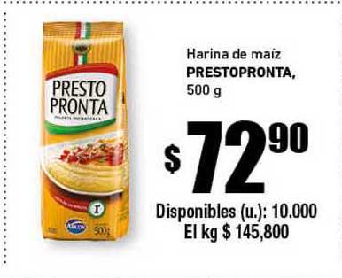 Cooperativa Obrera Harina De Maíz Prestopronta