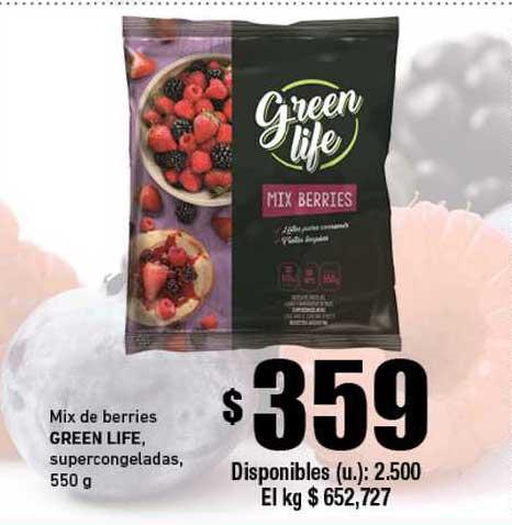 Cooperativa Obrera Mix De Berries Green Life