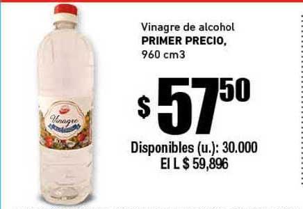 Cooperativa Obrera Vinagre De Alcohol Primer Precio