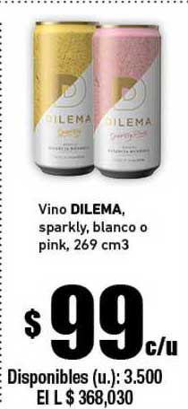 Cooperativa Obrera Vino Dilema Sparkly Blanco O Pink