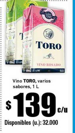 Cooperativa Obrera Vino Toro Vários Sabores