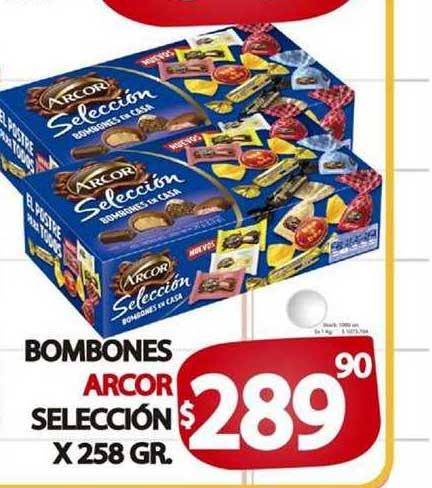 Supermercados Mariano Max Bombones Arcor Selección