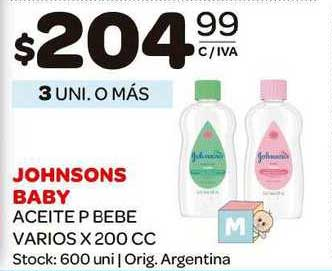 Carrefour Maxi Johnsons Baby Aceite P Bebe
