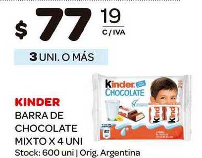 Carrefour Maxi Kinder Barra De Chocolate Mixto