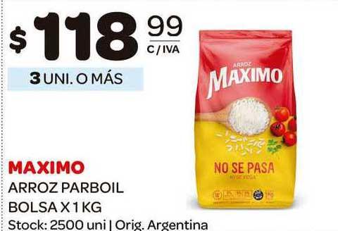Carrefour Maxi Maximo Arroz Parboil