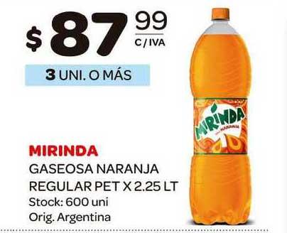 Carrefour Maxi Mirinda Gaseosa Naranja Regular