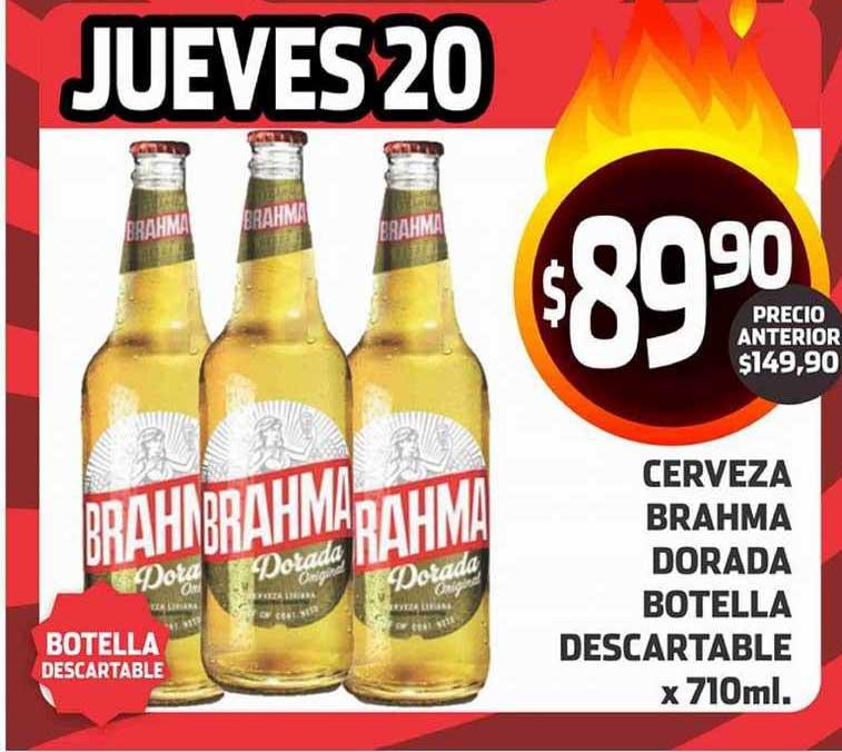 Supermercados Malambo Cerveza Brahma Dorada Botella Descartable X710ml.