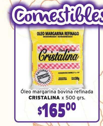 Borbotti Hipermercado óleo Margarina Bovina Refinada Cristalina X 500grs