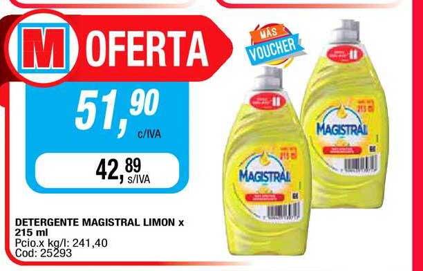Maxiconsumo Detergente Magistral Limon X 215 Ml